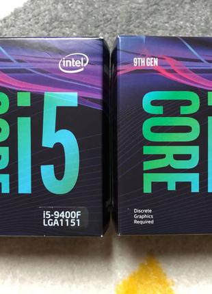 Новий Intel core i5-9400F