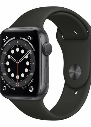 Apple Watch Series 6 40mm Space Gray Aluminum Case with Black Spo