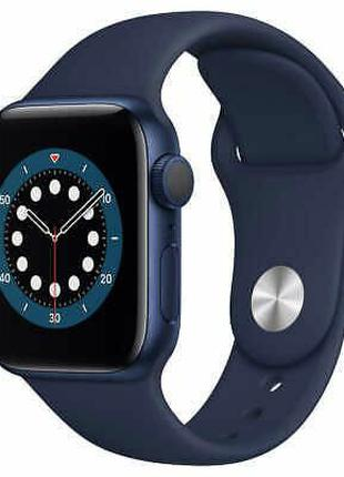 Apple Watch Series 6 40mm Blue Aluminum Case with Deep Navy Sport