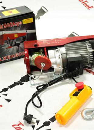 Лебедка,таль,тельфер электрический Lex LXEH500 250/500кг