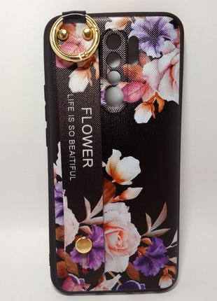 Задня накладка Xiaomi Redmi 9 Flower Rope Case Black
