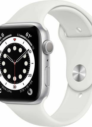 Apple Watch Series 6 40mm Silver Aluminum Case with White Sport B