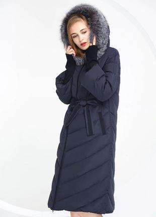 🌺 роскошный длинный зимний пуховик 🌺 пуховое пальто люкс ❗️ бе...