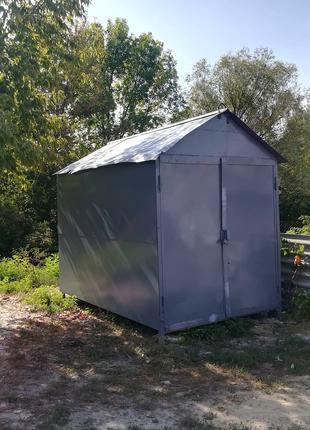 Добротный гараж для мотоцикла (мопеда), 2*3 м, ракушка, бытовка,