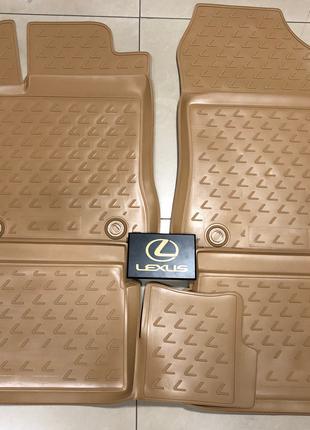 Новые оригинальные резиновые коврики на Lexus CT200h