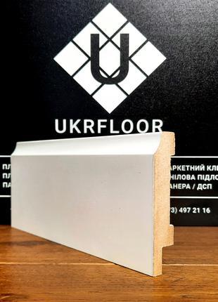Плинтус МДФ влагостойкий белый крашенный 16x70х2040мм Киев
