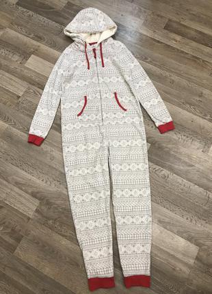 Тёплый флисовый костюм для дома (xl/2xl)