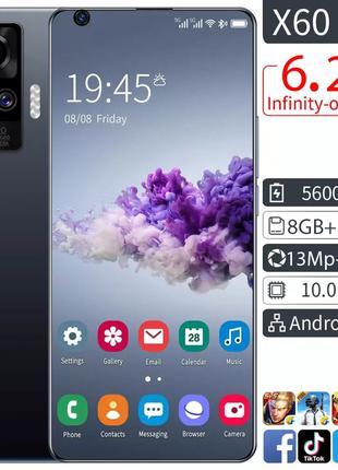 Новый X60 Pro 6,2 дюймов 8Гб+512Гб MTK6799 10-Core Android 10.0