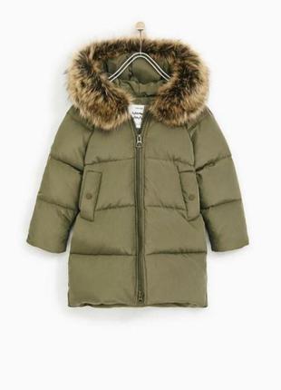 Офигенный пуховик пальто  zara girl