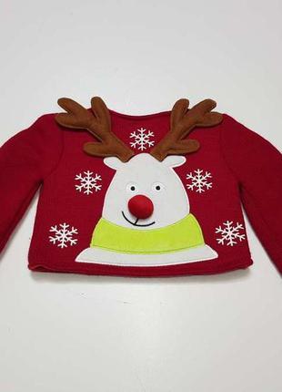Игрушка свитер новогодний, олень, claire's, как новый!