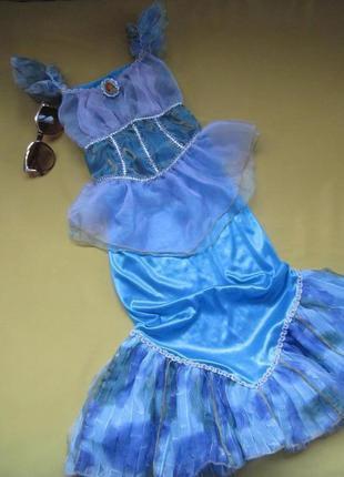 Красивое  карнавальное,новогоднее платье  русалки  ариэль,disn...