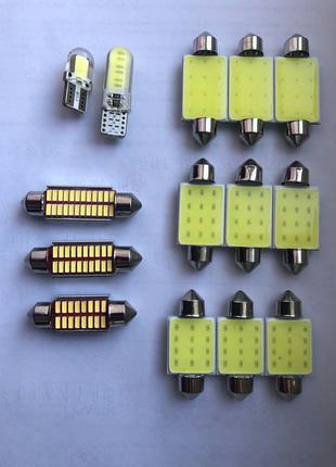 Led лампы Т10 C5W 36, 39, 41мм подсветка номера/салона/габарит