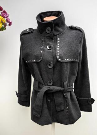 Пальто на ґудзиках італія розмір наш 54 ( а-14)
