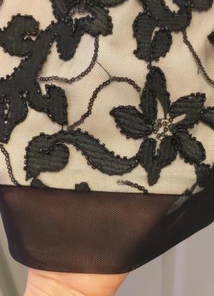 """Платье из дорогой вышивной ткани на подкладке """"нюд"""" разм. """"8"""" ..."""