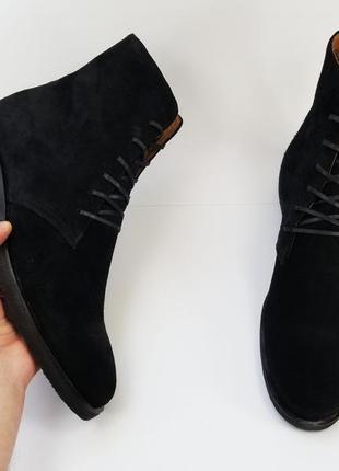 Мужские черные ботинки черевики