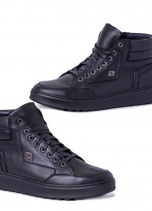 Ботинки мужские кожаные черные