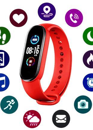 Фитнес-браслет M5, red