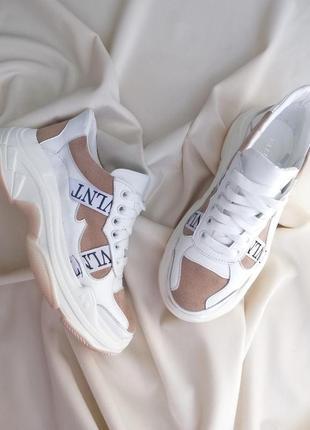 Женские кожаные кроссовки