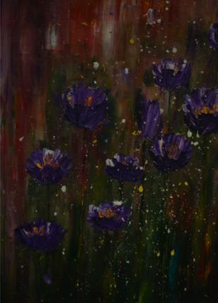 Картина маслом «Цветёт ли цветок»