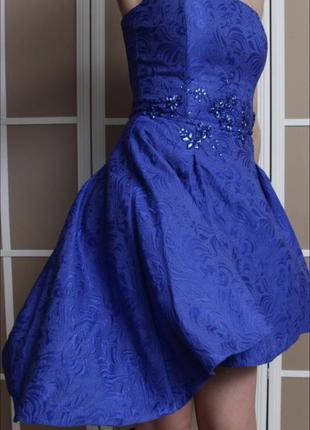 Вечернее платье love republic, цвет синий, размер s