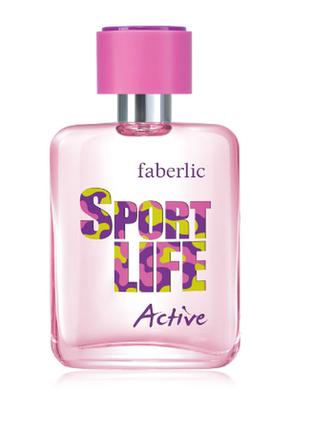 Туалетная вода для женщин sport life active faberlic