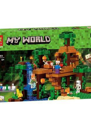 Конструктор Bela 10471 My World Домик на дереве в джунглях 718 де