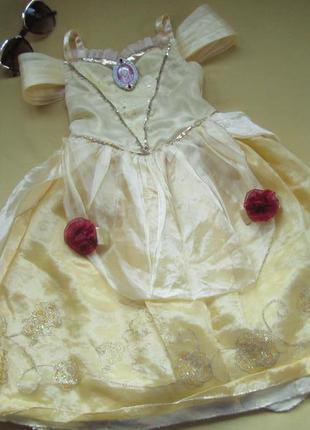 Ярко-желтое карнавальное,новогоднее платье принцессы бель,р.98...