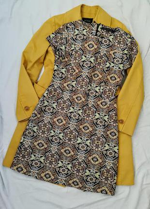 Жаккардовое  платье zara trafaluc collection
