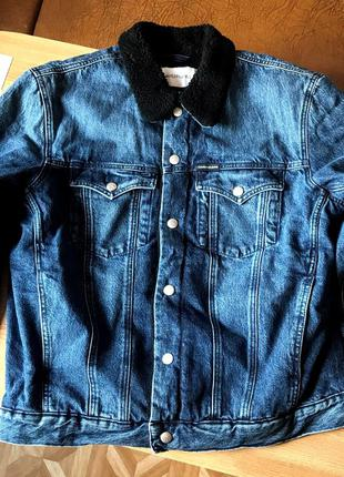 Calvin klein sherpa куртка
