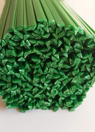 ABS пластиковые прутки АБС зеленые треугольник пайка пластика