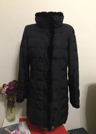 Пуховик max mara l пуховое пальто