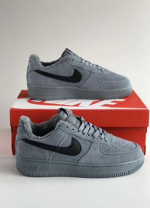 "Кроссовки nike air force 1""grey"" winter"