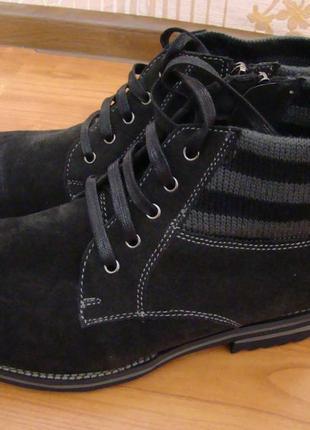 Новые зимние кожаные мужские ботинки respect.оригинал. размер 40