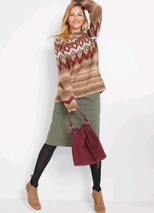 Коллекционный акриловый трендовый Пуловер оверсайз. Бата