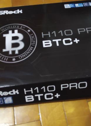 Материнская плата ASRock H110 Pro BTC+