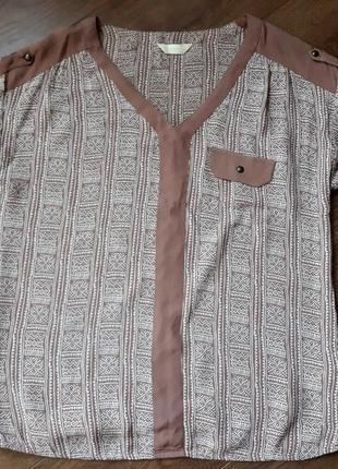 Блуза с этническим узором в стиле бохо размер l