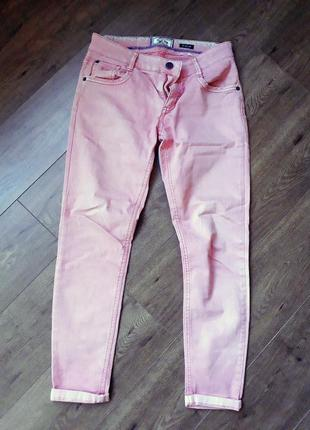 Светло-розовые джинсы drift king 30 размер
