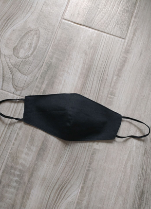 Черная многоразовая маска. Маска защитная для лица