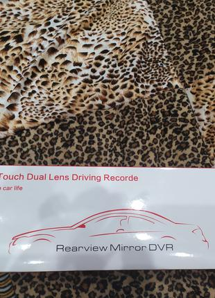 Автомобильный видеорегистратор DVR L502 NEW зеркало 2 камеры