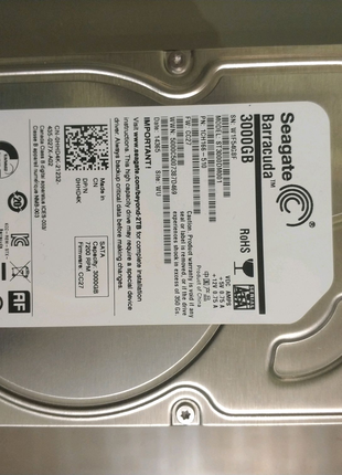 Seagate barracuda 3000gb 3tb не працює смарт