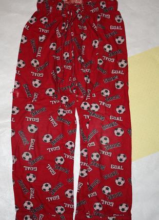 Байковые пижамные штанишки мальчику р-122/128,хорошее