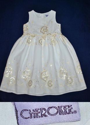 Нарядное платье с пайетками от cherokee р.104