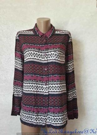 Фирменная h&m рубашка/блуза со 100%вискозы в орнамент и цвета ...