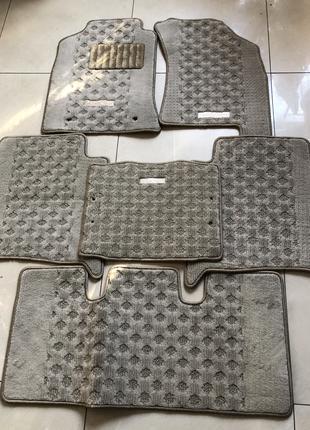 Новые оригинальные ворсовые коврики Toyota Fortuner 3 ряда