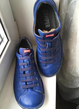 Фирменные кожаные туфли camper