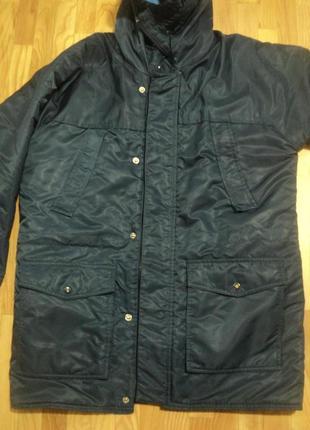 Стильная мужская зимняя куртка парка - аляска большого размера...