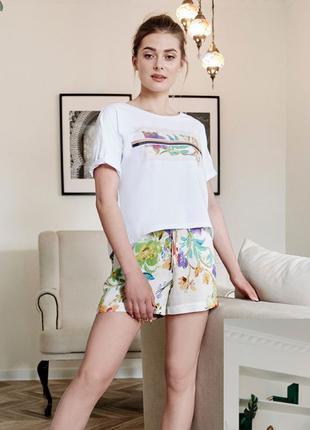 Burvin шорты 7873+блуза 7874 бел
