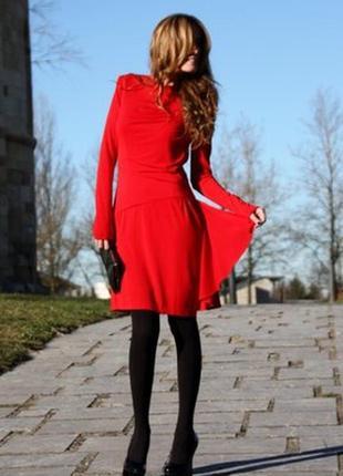 Красное платье манго mango