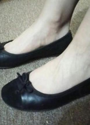 Кожаные туфли манго mango