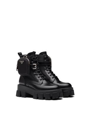 Prada Brushed Rois Boots Black